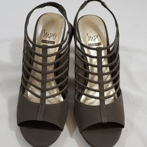 "IMPO HEELS 3.5"" STRETCH GREAT SYLE NWOT"